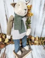 Autumn Handmade Rustic Cat